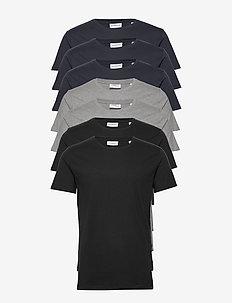 Basic o-neck tee S/S 7 pack - multipack - bl/gr/na
