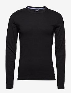 Basic tee o-neck L/S - długi rękaw - black