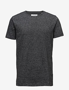 Mouliné o-neck tee S/S - BLACK MIX