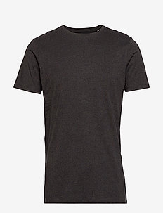 Mouliné o-neck tee S/S - korte mouwen - deep black mix