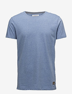 Mouliné o-neck tee S/S - ICE BLUE MIX