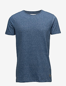 Mouliné o-neck tee S/S - SKY BLUE MIX