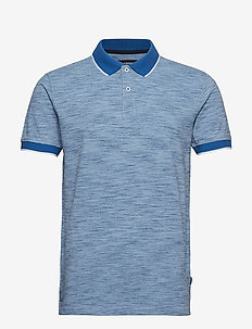 Space dyed polo S/S - COBALT