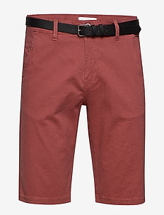 AOP chino shorts W. belt - chino's shorts - dusty rose