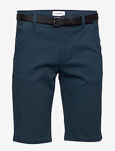 AOP chino shorts W?. belt - chinot - navy
