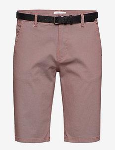 AOP chino shorts W?. belt - chino's shorts - rose