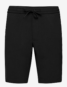 Relaxed suit shorts - casual shorts - black