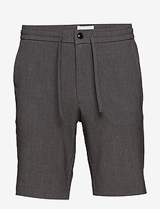 Relaxed suit shorts - GREY MIX