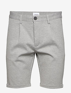 Pleated shorts - tailored shorts - lt grey mix