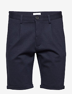 Pleated shorts - NAVY MIX