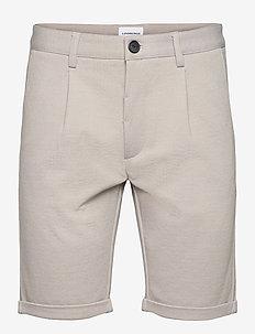 Pleated shorts - tailored shorts - stone mix