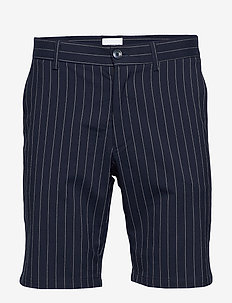 Pin striped shorts - NAVY