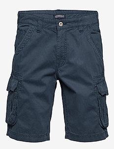 Garment dyed cargo shorts - DK BLUE