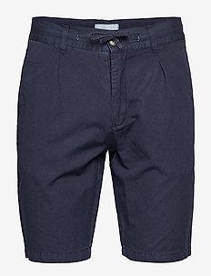 Linen shorts - spodenki chinos - dk blue