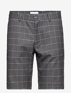Checked shorts - tailored shorts - grey