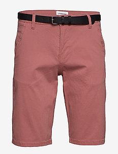 Classic chino shorts w. belt - chinos shorts - dusty rose