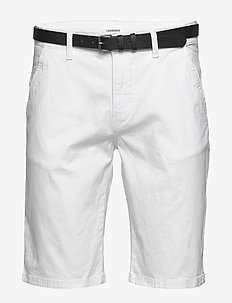 Classic chino shorts w?. belt - WHITE