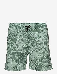 Swim shorts w?. tropic print - MIST GREEN