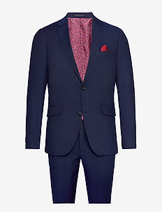 Broken pin stripe suit - DK BLUE STRIPE