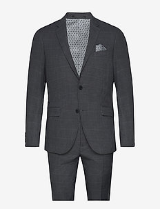 Checked suit - enkeltkneppede dresser - grey check