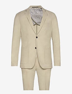 Cotton linen suit - sand mix
