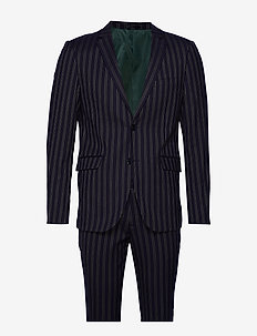 Striped suit - single breasted suits - dk blue