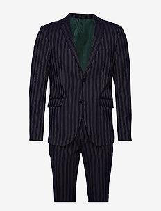 Striped suit - enkeltkneppede dresser - dk blue
