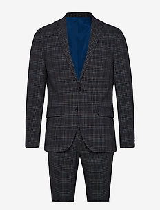 Checked suit - DK GREY CHECK