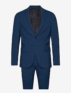 Plain mens suit - einreiher anzüge - dk blue