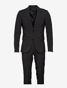 Plain mens suit - yksiriviset puvut - dk grey mel