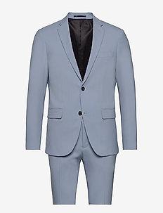 Plain mens suit - single breasted suits - lt blue