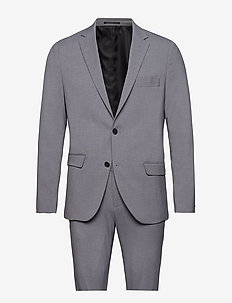 Plain mens suit - single breasted suits - lt grey