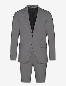 Plain mens suit - LT GREY MEL
