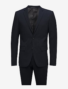Plain mens suit - single breasted suits - navy