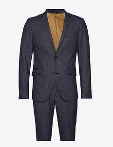 Checked suit - enkelknäppta kostymer - black