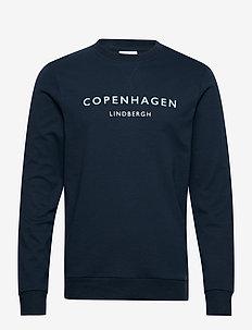 Logo print sweatshirt - DK BLUE