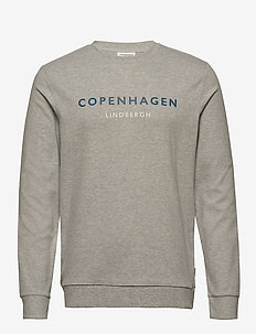 Logo print sweatshirt - GREY MEL