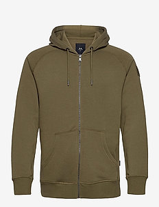 Hood Cardigan - basic-strickmode - army