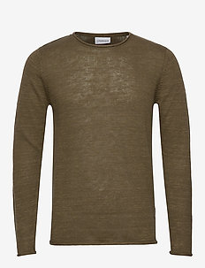 Casual knit - basic strik - army mel