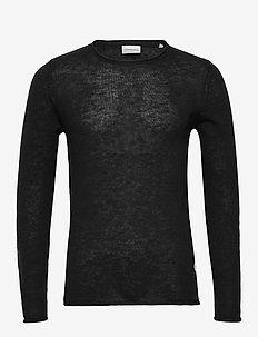 Casual knit - basic gebreide truien - black mel