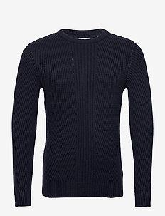 Rib knit - podstawowa odzież z dzianiny - navy