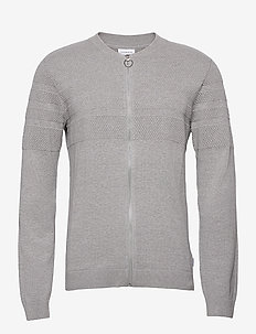 Pearl knit cardigan - basic-strickmode - grey mel