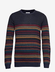 Jacquard knit - NAVY