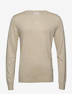 Mélange round neck knit - BEIGE MEL