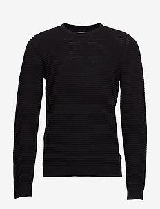 Structure knit - perusneuleet - black