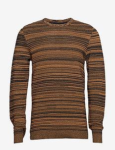 Structure knit - perusneuleet - mustard mel