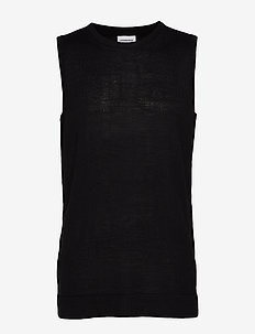 Merino slipover - basic t-shirts - black