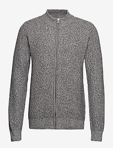 Zip structure cardigan - GREY