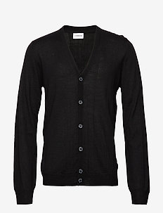 Merino knit cardigan - BLACK