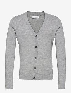 Merino knit cardigan - cardigans - lt grey mix